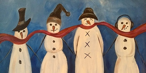 Canvas and Corks Snowmen