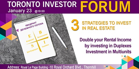 3 strategies to invest in Real Estate. Investment in Multiunits. tickets