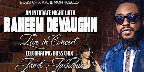 Raheem DeVaughn Live In Concert + Janet Jackson's Celeb B'day Bash tickets