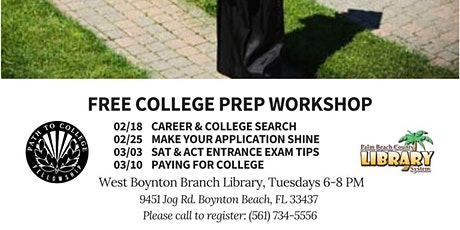 FREE College Prep Workshop Series with Path to College tickets