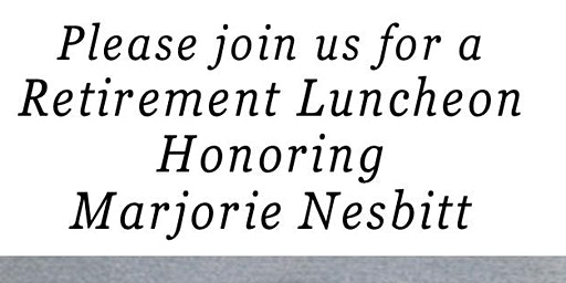 Retirement Luncheon for Marjorie Nesbitt