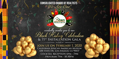 Consolidated Board of Realtists Black History and 71st Installation Gala tickets