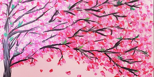 'Cherry Blosson Tree' Paint Night at Maggies Pub