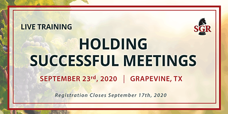 Holding Successful Meetings - Live Training - Grapevine, TX tickets