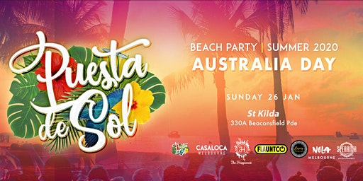 Puesta De Sol Australia Day | Summer Beach Party
