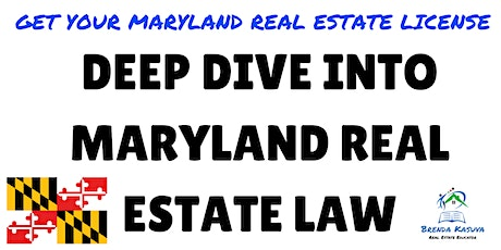 Maryland Real Estate Law - Exam Review tickets