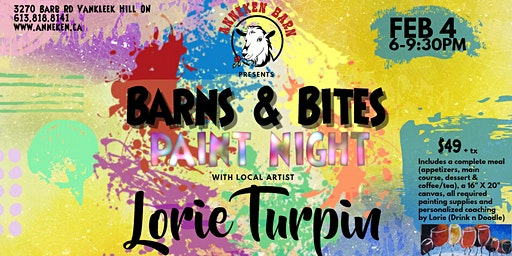 Barns & Bites Paint Night with LORIE TURPIN