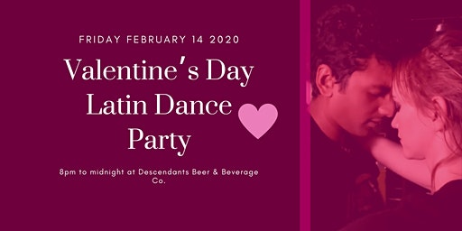 Valentine's Day Latin Dance Party at Descendants Beer & Beverage Co.