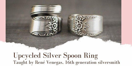 Upcycled silver spoon ring w/Rene