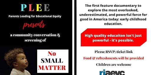 Screening of No Small Matter & Community Conversation