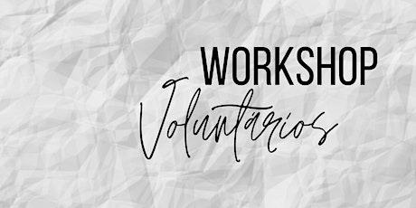 Workshop Voluntários ingressos
