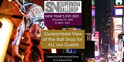 New Year's Eve 2021 with a GUARANTEED direct view of the Ball Drop for ALL OUR GUESTS (Times Square) - December 31, 2020