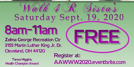 NEO African American Women's Wellness Walk Walk 4 R Sista's 2020 Vendor tickets
