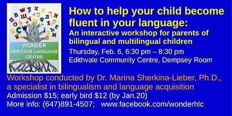 How to help your child become fluent in your language tickets