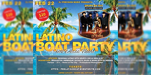 FEB: Latino Boat Party With Band