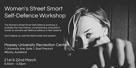Women's Street Smart Self-Defence Workshop - Massey University, Albany, Auckland Mar 2020 tickets