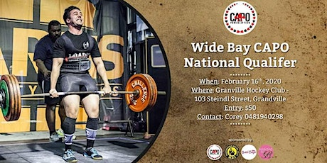 Wide Bay CAPO National Qualifier tickets