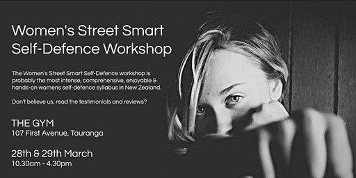 Women's Street Smart Self-Defence Workshop - The Gym, Tauranga March 2020