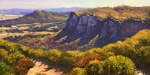 Full day oil painting Class - Painting Blue Mountains