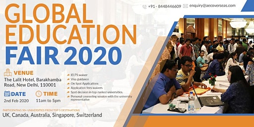 Global Education Fair - New Delhi (Free Entry)