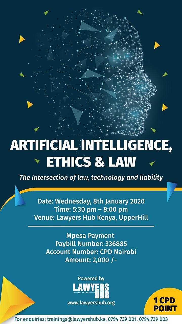 Lecture on Artificial Intelligence & the Law (Wedn image