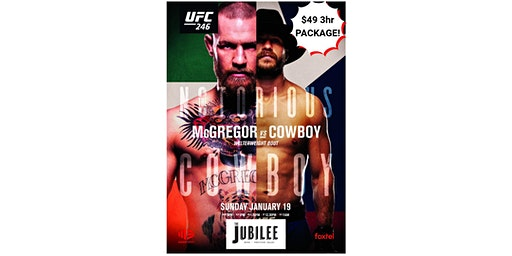 UFC 246 3 HOUR DRINK & LUNCH PACKAGE - $49!