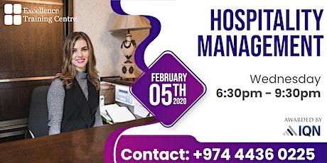 Hospitality Management tickets
