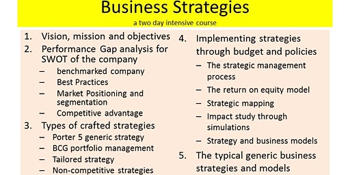 BUSINESS STRATEGIES : to win in a competitive market