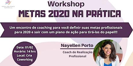 Workshop Metas 2020 ingressos