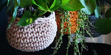 Crocheted Plant Basket Workshop tickets