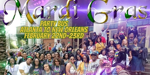 Mardi Gras Litt Party Bus from Atlanta to New Orleans