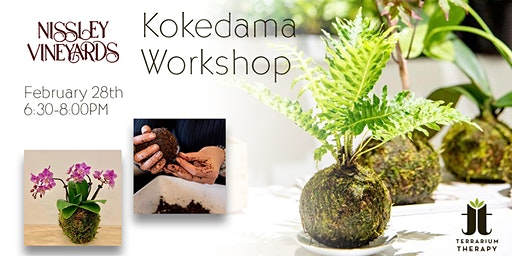 Orchid and Jade Kokedama Workshop at Nissley Vineyards