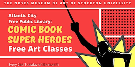 Comic Book Super Heroes: Free Kids' Art Classes tickets