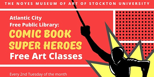Comic Book Super Heroes: Free Kids' Art Classes