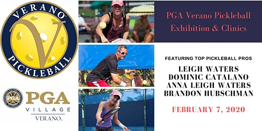 PGA Verano Pickleball Pro Exhibition & Clinics - Open to the Public!