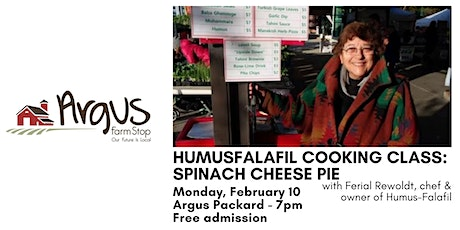 HumusFalafil Cooking Class: Spinach Cheese Pie tickets