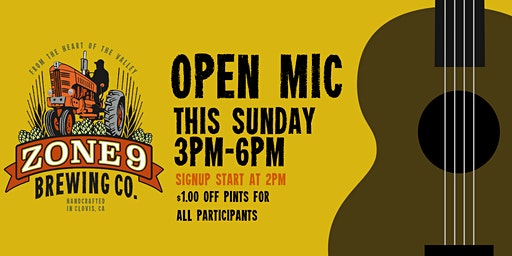 Open Mic Night at Zone 9 Brewing Co
