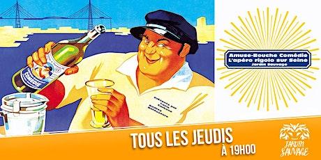 Amuse-Bouche Comédie : L'apéro rigolo sur Seine ! billets