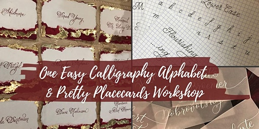 Calligraphy Alphabet & Pretty Placecards