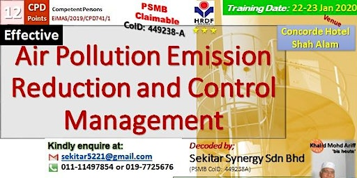 Effective Air Pollution Emission Reduction and Control Management (12 CPD)