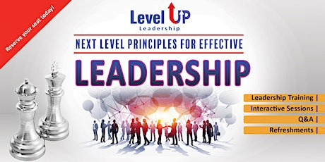 Next Level Principles For Effective Leadership Masterclass  tickets