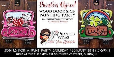 Vintage Truck Door Sign( Valentine or St. Patricks Day) tickets