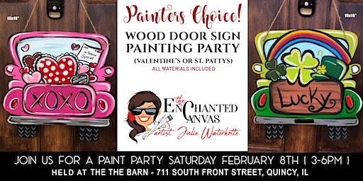 Vintage Truck Door Sign( Valentine or St. Patricks Day)