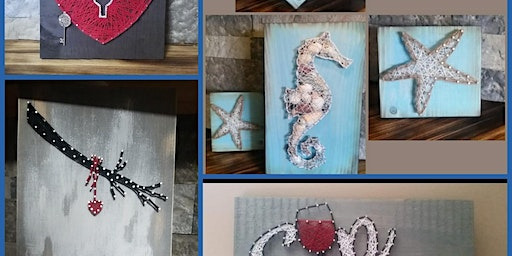 String Art class with Lisa at Renegade Winery