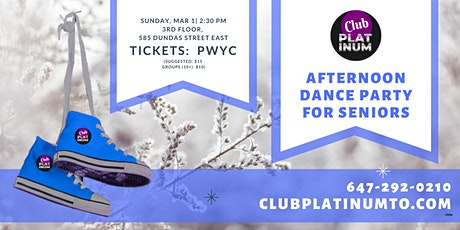 March Club Platinum Dance Party for Seniors - Seniors Dance Toronto tickets