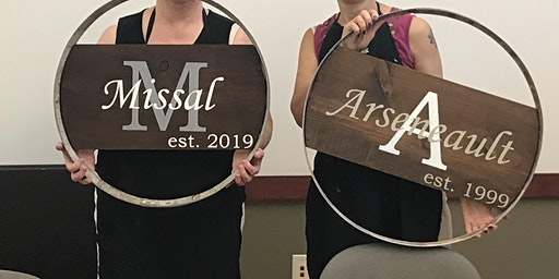 Paint and Sip Wood Sign Party