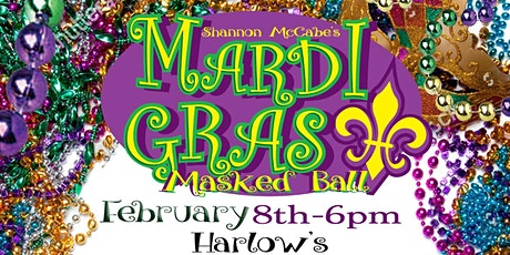 5th Annual Mardi Gras Masked Ball at Harlow's Presented by Shannon McCabe tickets