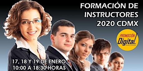 Formación de Instructores 2020 CDMX entradas