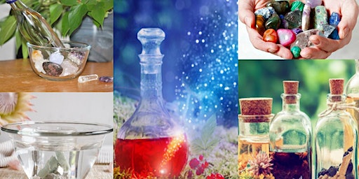 "Crystal Elixirs: Gems, Jewels, and Stones to Create Your Own Potions"" Workshop Jennifer Morris"