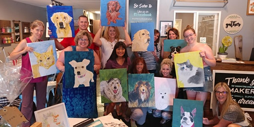 Paint A Portrait of Your Pet with Creatively Carrie
